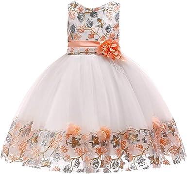 K-youth Vestidos De Fiesta para Niñas Elegantes Vestidos para Niñas Bebes Ropa Niña Tutú Princesa Bordado Flor Encaje Vestido de Niña Oferta Moda Vestido Bebe Niña Bautizo: Amazon.es: Ropa y accesorios