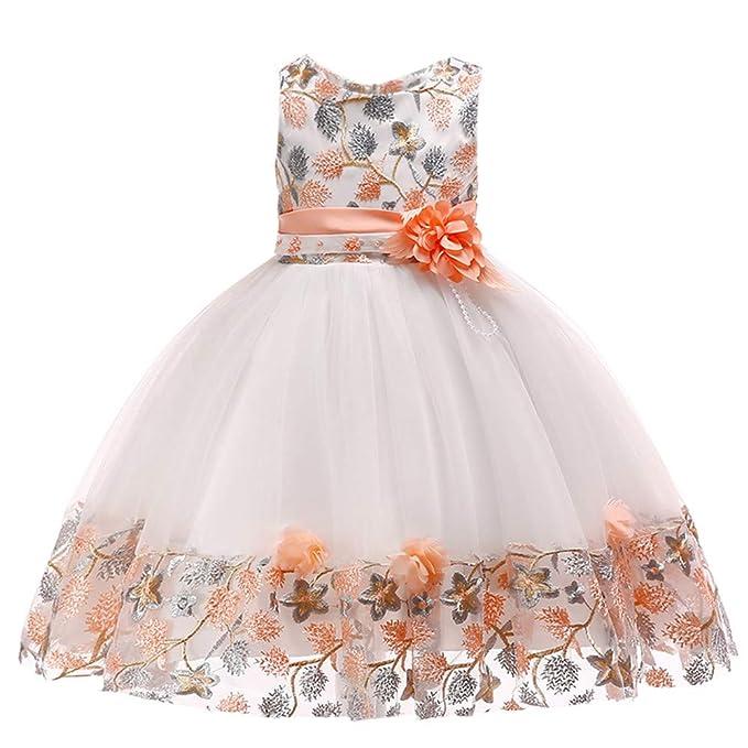 65adc3a71555 K-youth Vestidos De Fiesta para Niñas Elegantes Vestidos para Niñas Bebes  Ropa Niña Tutú Princesa Bordado Flor Encaje Vestido de Niña Oferta Moda ...
