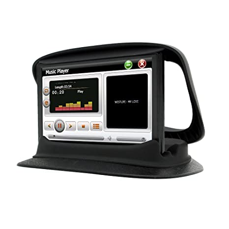 Junsun Soporte Adhesivo de salpicadero de Coche para Tomtom Garmin navegador GPS 7 Pulgadas