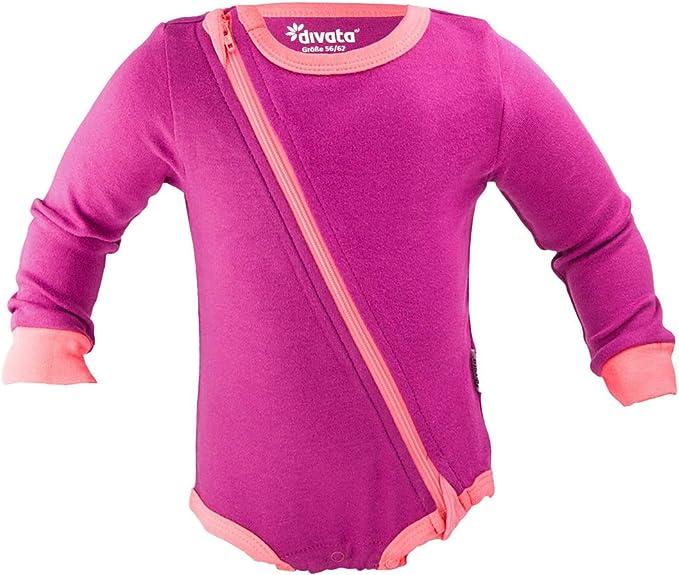 divata Zipper Body – Body para bebé con con cremallera en lugar de ...