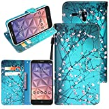 """Jitterbug Smart (5.5"""") Case, Linkertech [Kickstand Feature] PU Leather Wallet Flip Pouch Case Cover With Wrist Strap & Card Slots For Jitterbug Smart (5.5inch) (C-2)"""
