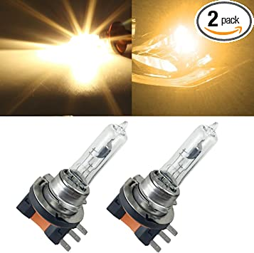 Halogen Lamp H15 64176 Light H15 Yellow 4300k 55W H15 Halogen Light Auto Headlights Bulb Replacement For Audi BMW Mercedes Volkswagen Of DRL Daytime Running Lights