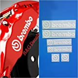 R&G Brembo Decal Combo Package for 6 Piston & 4 Piston & Brembo Logos Brake Caliper Decal Sticker High Temp Set of 6 Decals +