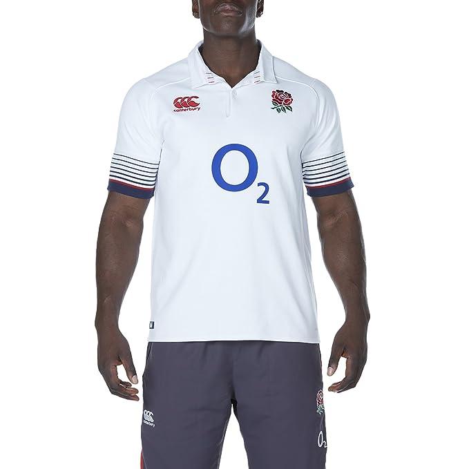Official England Rugby de la RFU - Hombres Manga Corta Vapodri ...