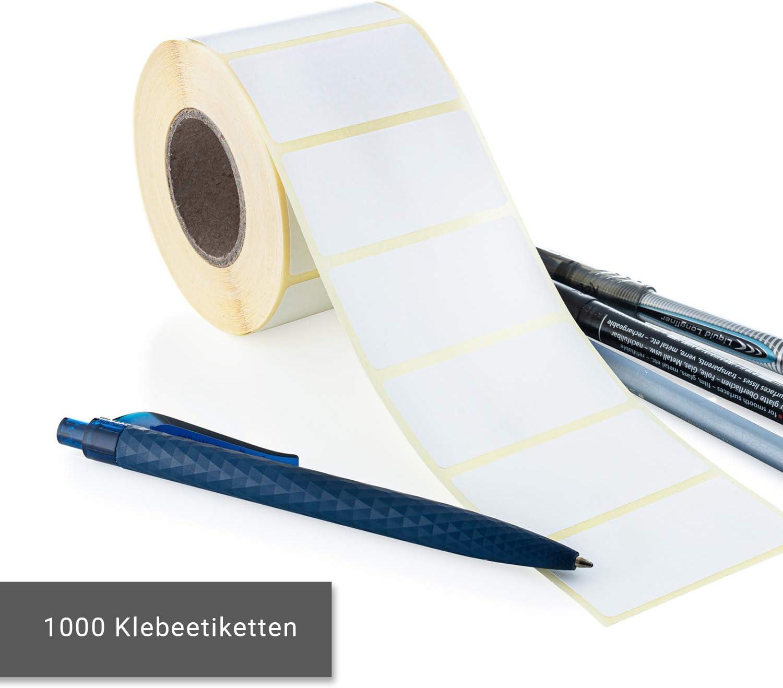 Marmeladengl/äser als Gefrieretiketten /& Tiefk/ühletiketten nutzbar als Aufkleber f/ür Vorratsdosen DESIGN WUNDER 1000 blanko Etiketten selbstklebend//wei/ße Klebeetiketten zur Beschriftung