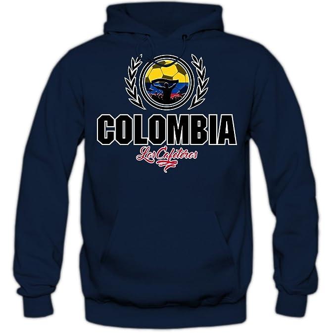 Shirt Happenz Fútbol Colombia V2 Sudadera con Capucha | Hombre | Fútbol | Equipo Nacional |