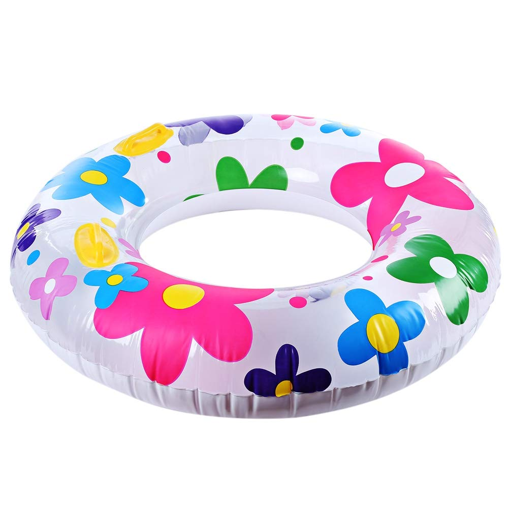 zhang-hongjun,Nadadores inflables de Moda del Tubo de la natación del Anillo de la natación del Estampado de plores(Color:Vistoso): Amazon.es: Hogar