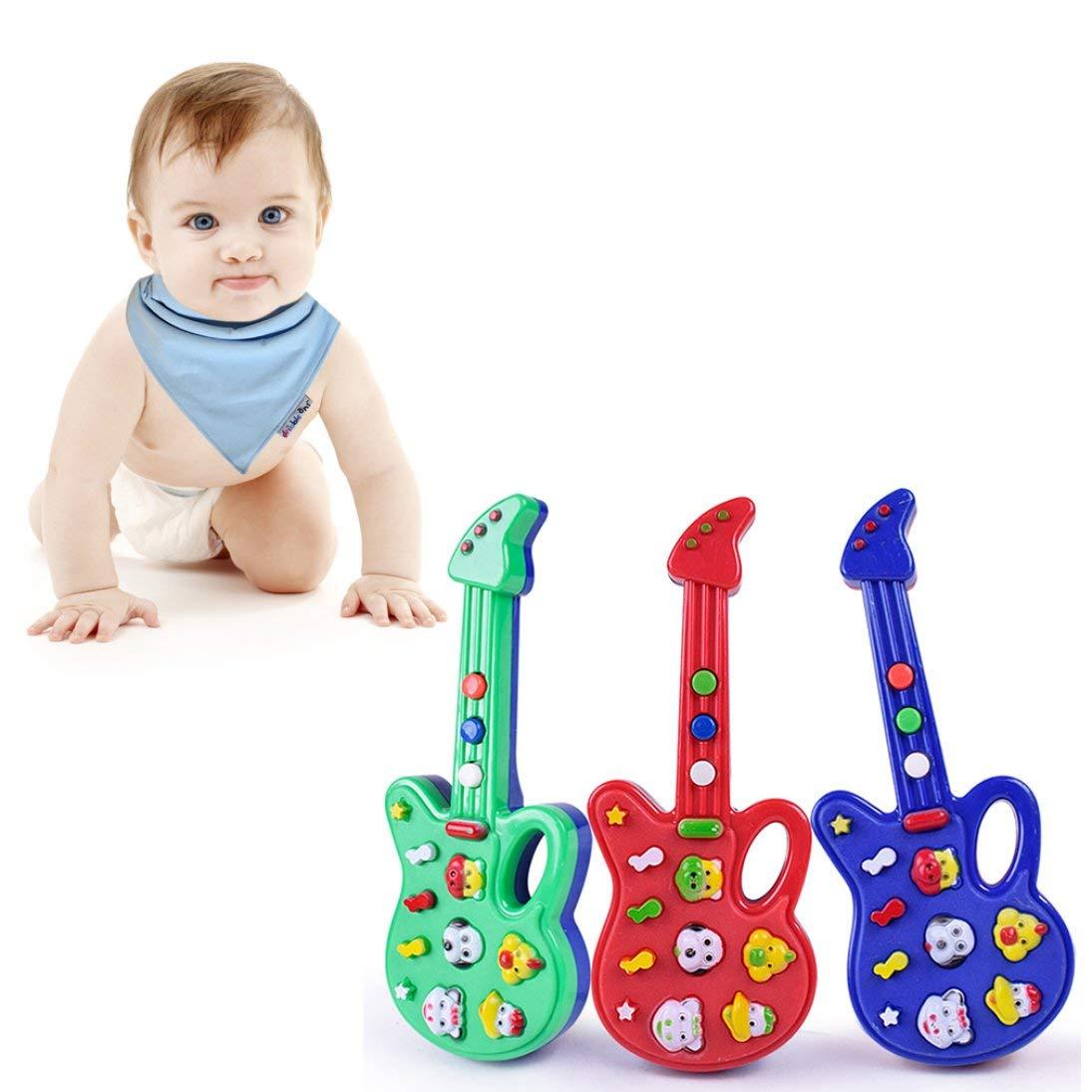 S/úper Ni/ños Beb/é Ni/ños Juguetes de Guitarra Vivero Rima Sabidur/ía Desarrollo Simulaci/ón M/úsica Guitarra Pl/ástica Mejor Regalo ToGames-ES
