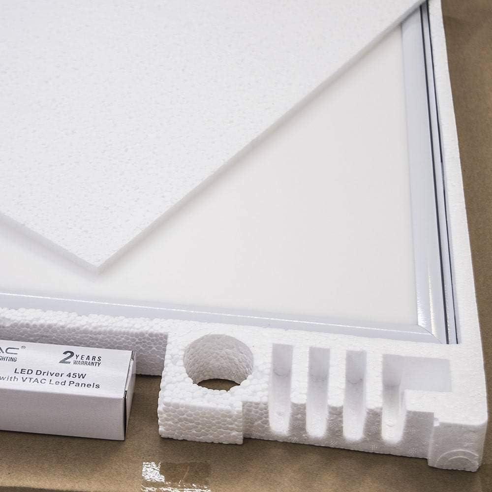 Plastique,et Autre materiaux V-TAC SKU.6219 Dalle LED 600x600 45W Prisma VT-6068 Blanc Hauteur x Largeur x Profondeur : 595 mm x 595 mm x 11 mm 45 W