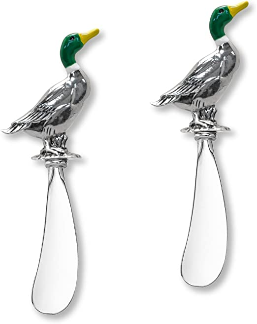 Wine Things 2-Piece Dolphin Zinc Cheese Spreader