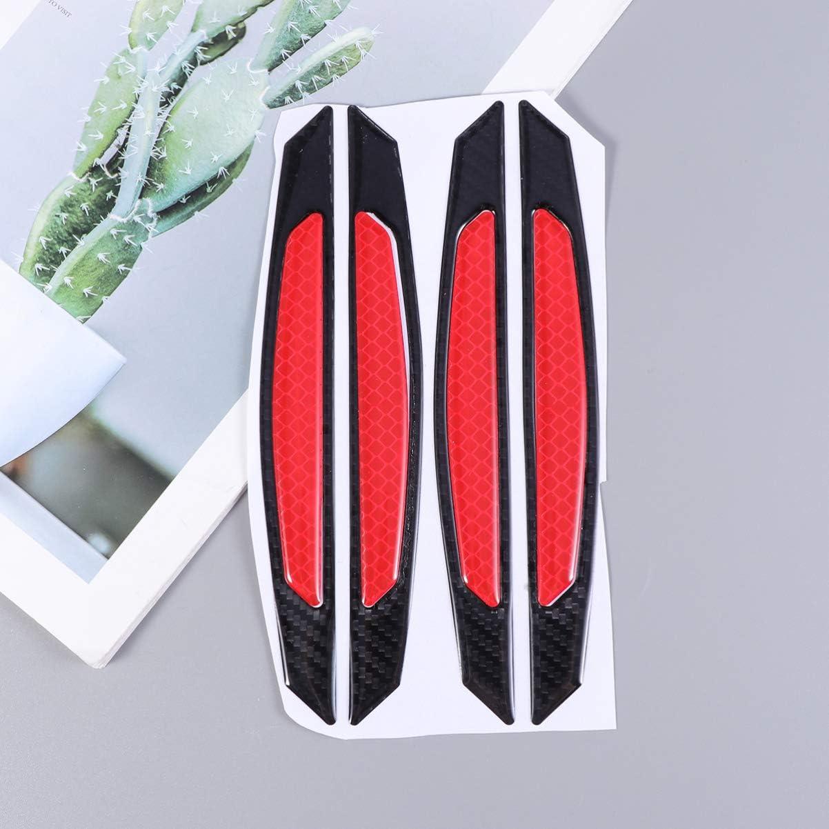 Vosarea Car Door Entry Guard Protectors,4pcs Car Door Edge Anti Collision Bumper Sticker Reflective Carbon Fiber Door Anti-Rub Strips Anti-Scratch Protection Guards Trim Stickers