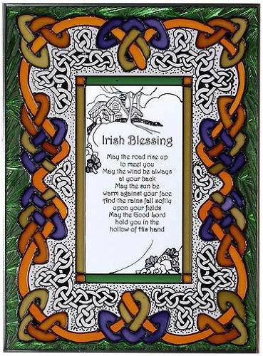 Silver Creek Industries Irish Blessing Art Glass Suncatcher
