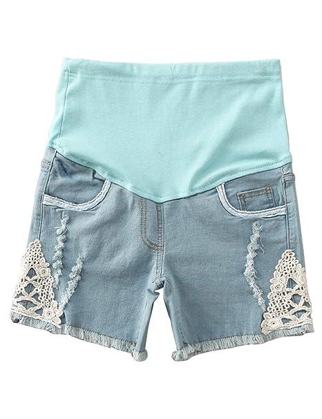 Zhhlaixing El Embarazo Mujer Fondo Pantalones Cortos ...
