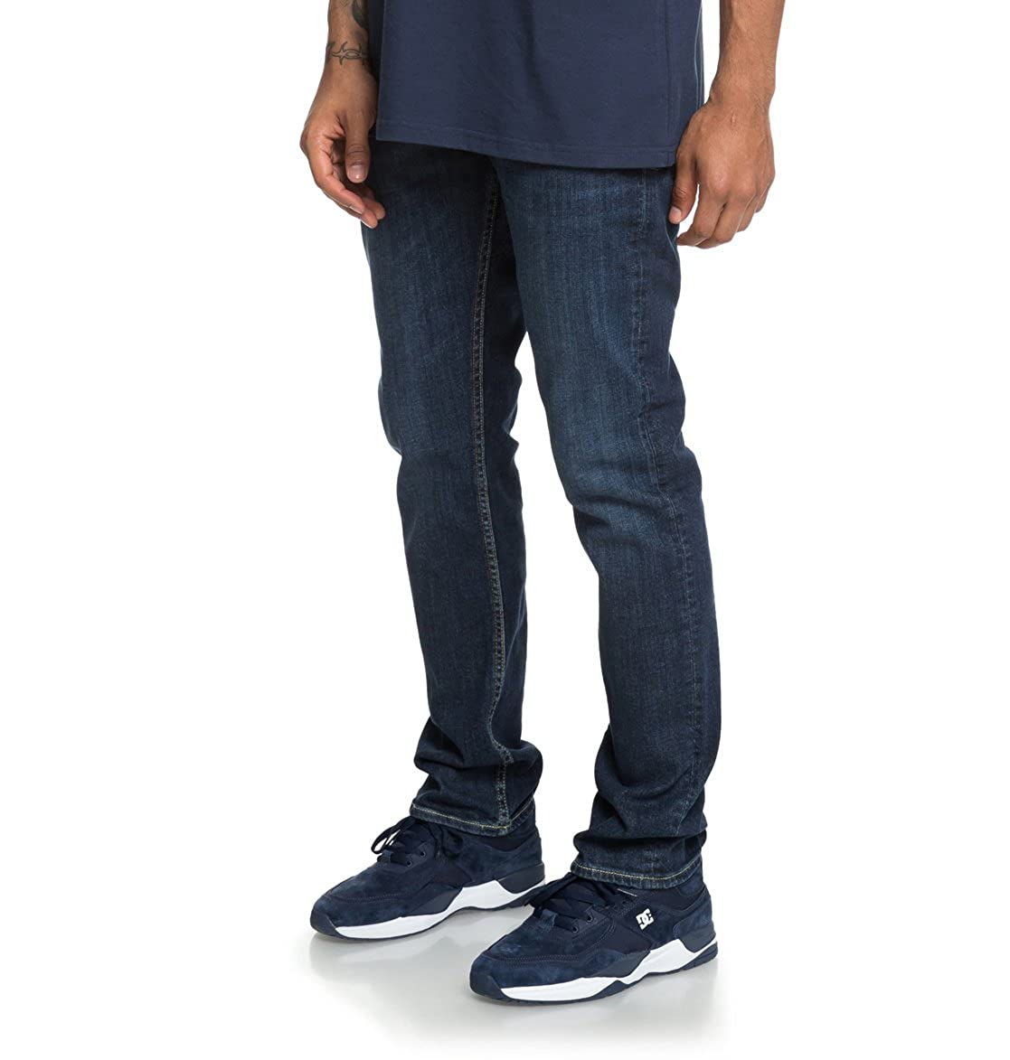 DC Shoes Mens Shoes Worker Medium Stone Straight Fit Jeans for Men Edydp03388
