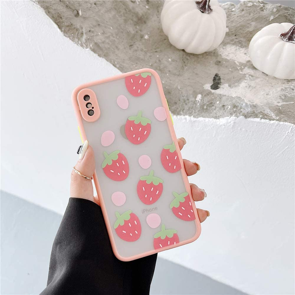 Pink Strawberries Phone Case for Apple iPhone X XS 5.8