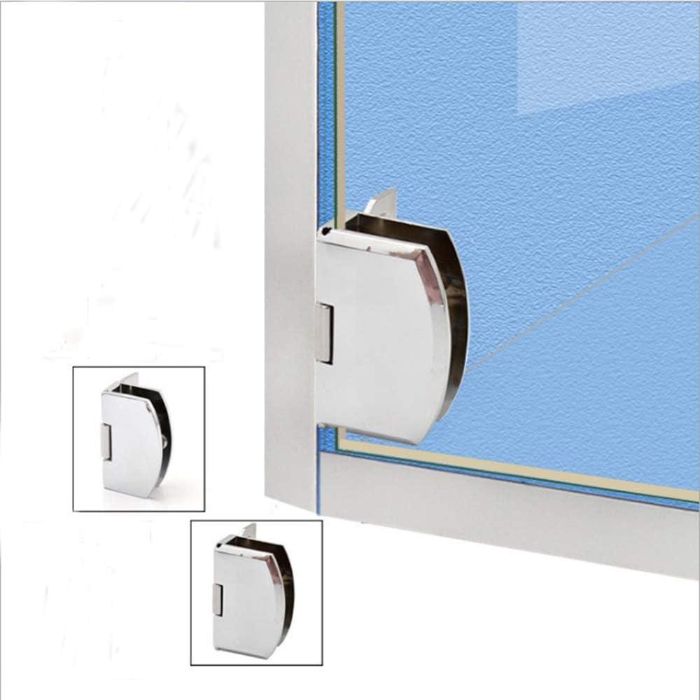 vitrinas empotradas en ventanas laterales repuestos para gabinetes 1 par de bisagras para puertas de vidrio sin marco bisagras para puertas de ducha