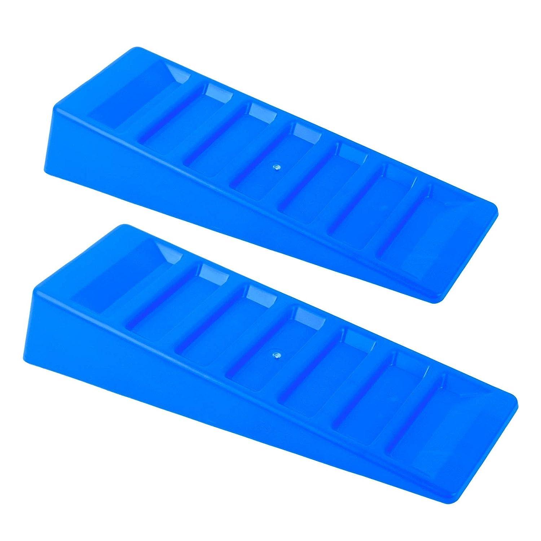 Ausgleichskeile Stufenkeile 3t 2er Set blau fü r Wohnwagen und Wohnmobil Pat