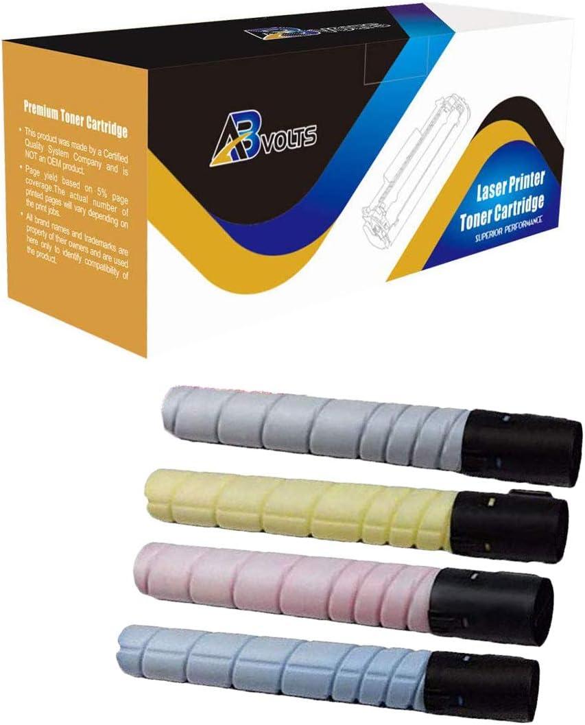 AB Volts Compatible Toner Cartridge Replacement for Konica-Minolta TN512 for Bizhub C454 C554 Black Cyan Magenta Yellow,4-Pack