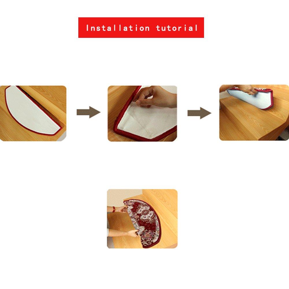 yazi Caf/é escalier de Style europ/éen Tapis de Sol Durable Tread Tapis d/écoration DE 24/x 64/cm