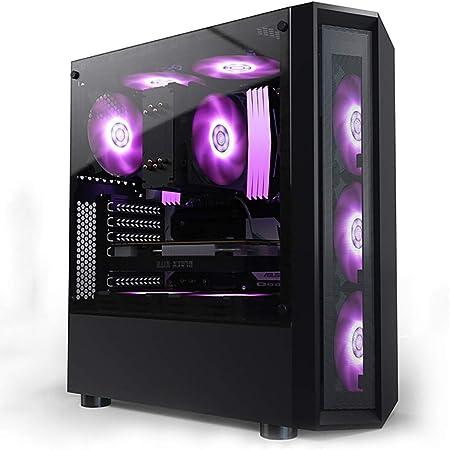 XZ15 Caja Negra for computadora de Juegos for PC, ITX/Micro AXT/ATX, admite refrigeración por Agua y 8 Posiciones de Ventilador, transmisión rápida USB3.0, Serie de aleación de Vidrio Templado: Amazon.es: Hogar