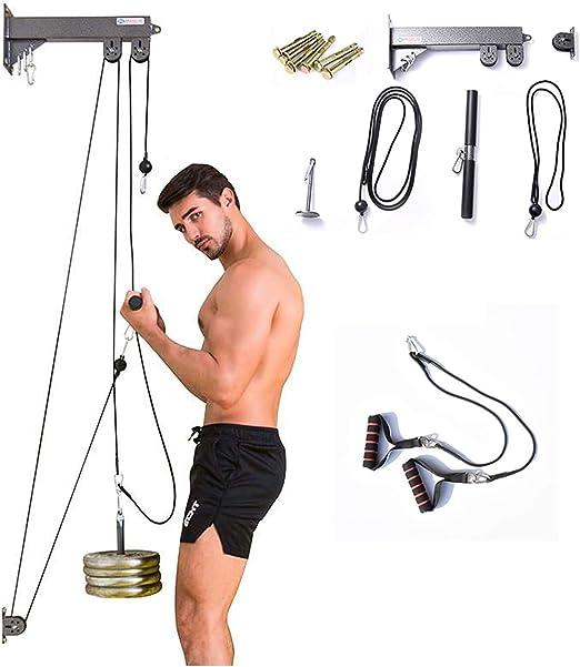 Sistema de Polea para Biceps y Triceps con Máquina De Cable ...