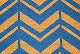 Home Garden Hardware 36512 Chevron 18x30'' Printed Coir Doormat,Natural,Small