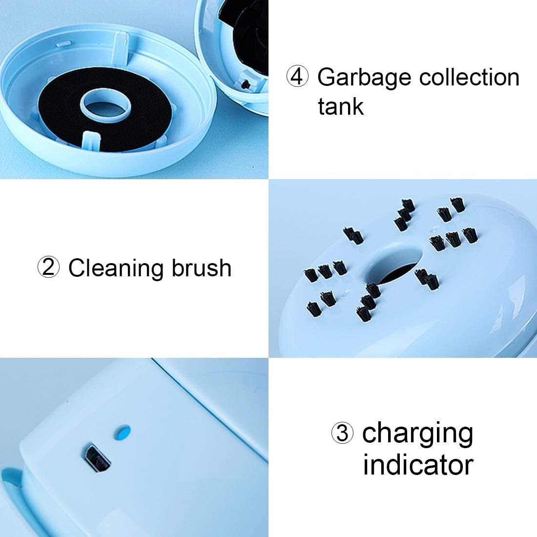 FineInno Mini Vacuum Cleaner DIY Cover Desktop Sweeper Handheld Cordless Multifunction Cleaning for Home Office Car White
