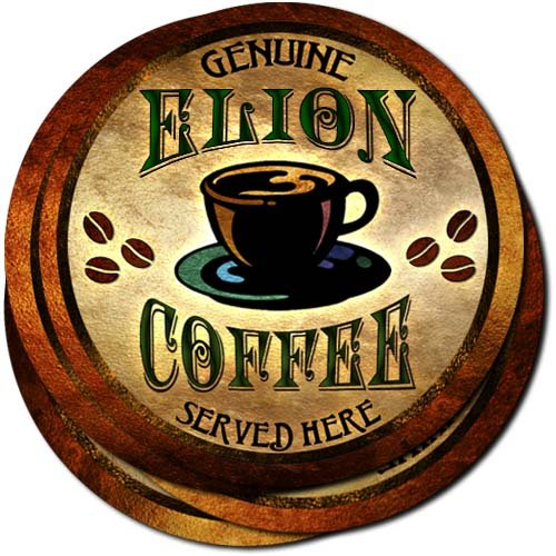 elion-coffee-neoprene-rubber-drink-coasters-set-of-4