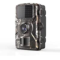 Cámara de caza 12 MP 1080P IP66 impermeable, cámara de vigilancia con LED, visión nocturna infrarroja hasta