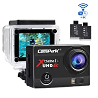 Campark 4K UHD Sport Action Camera,Underwater Waterproof Camera,16MP 1080P Full HD 2.0 Inch WIFI 170°Wide Angle Lens HDMI Time Lapse Slow Motion Action Camcorder