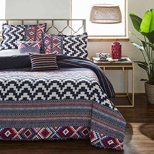 - Azalea Skye Kilim Stripe Comforter Set, Full/Queen, Navy