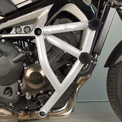 FATExpress Motorcycle White Steel Stunt Slider Cage Engine Guard Highway Crash Bar Crashbar Frame Protector for Yamaha MT FZ 09 Tracer MT-09 FZ-09