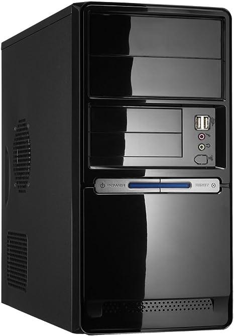 CoolBox 727 Small Form Factor (SFF) Negro - Caja de Ordenador (Small Form Factor (SFF), PC, Metal, De plástico, Negro, Micro ATX, Hogar/Oficina): Amazon.es: Informática