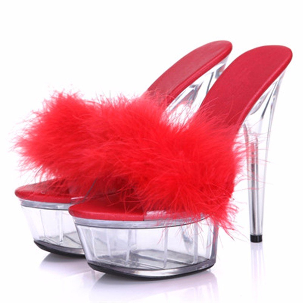 FLYRCX Sommer sexy Persönlichkeit High Heel Heel Heel Schuhe Sandalen transparent mode moderne Partei Schuhe Damen B07BDG8VMG Tanzschuhe Wartungsfähigkeit 742003