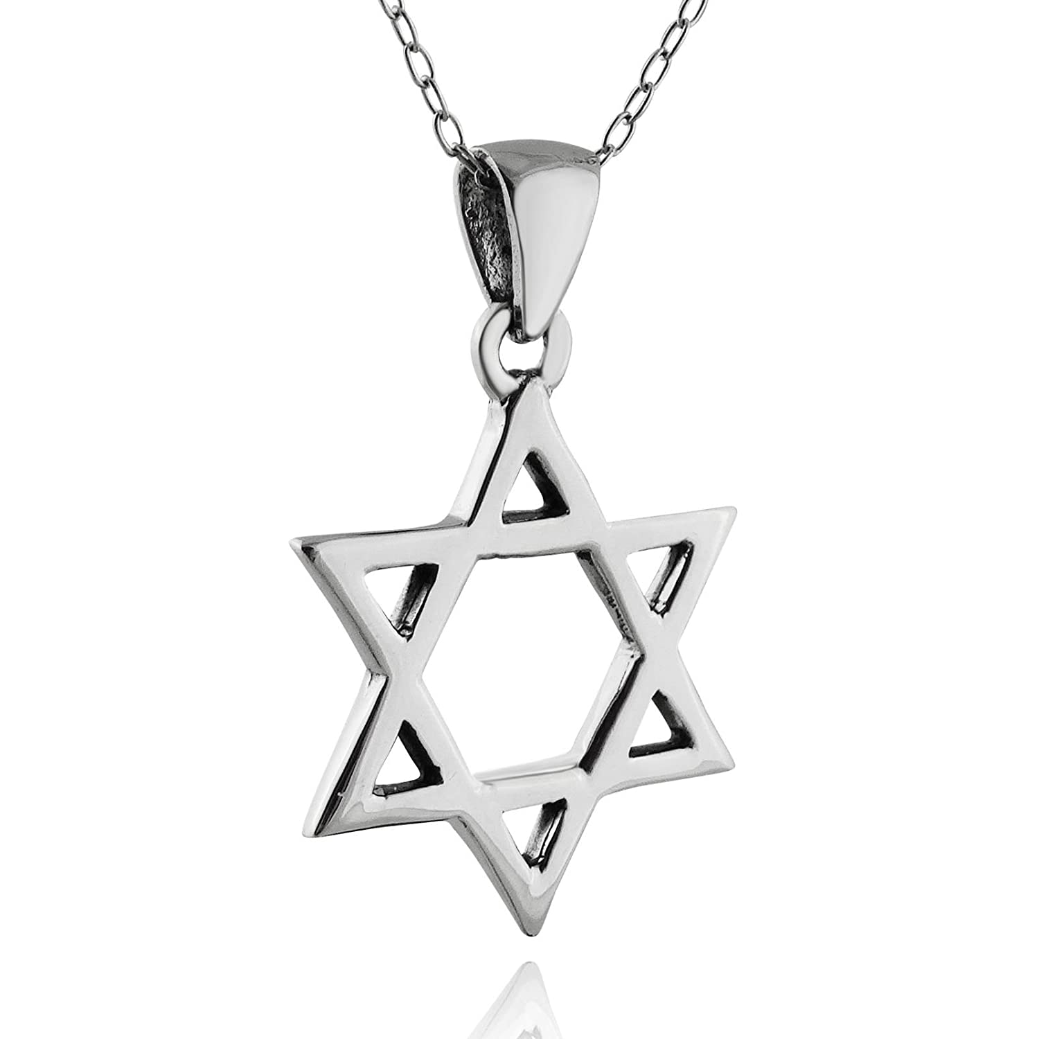 18 Chain FashionJunkie4Life Sterling Silver Jewish Star of David Pendant Necklace