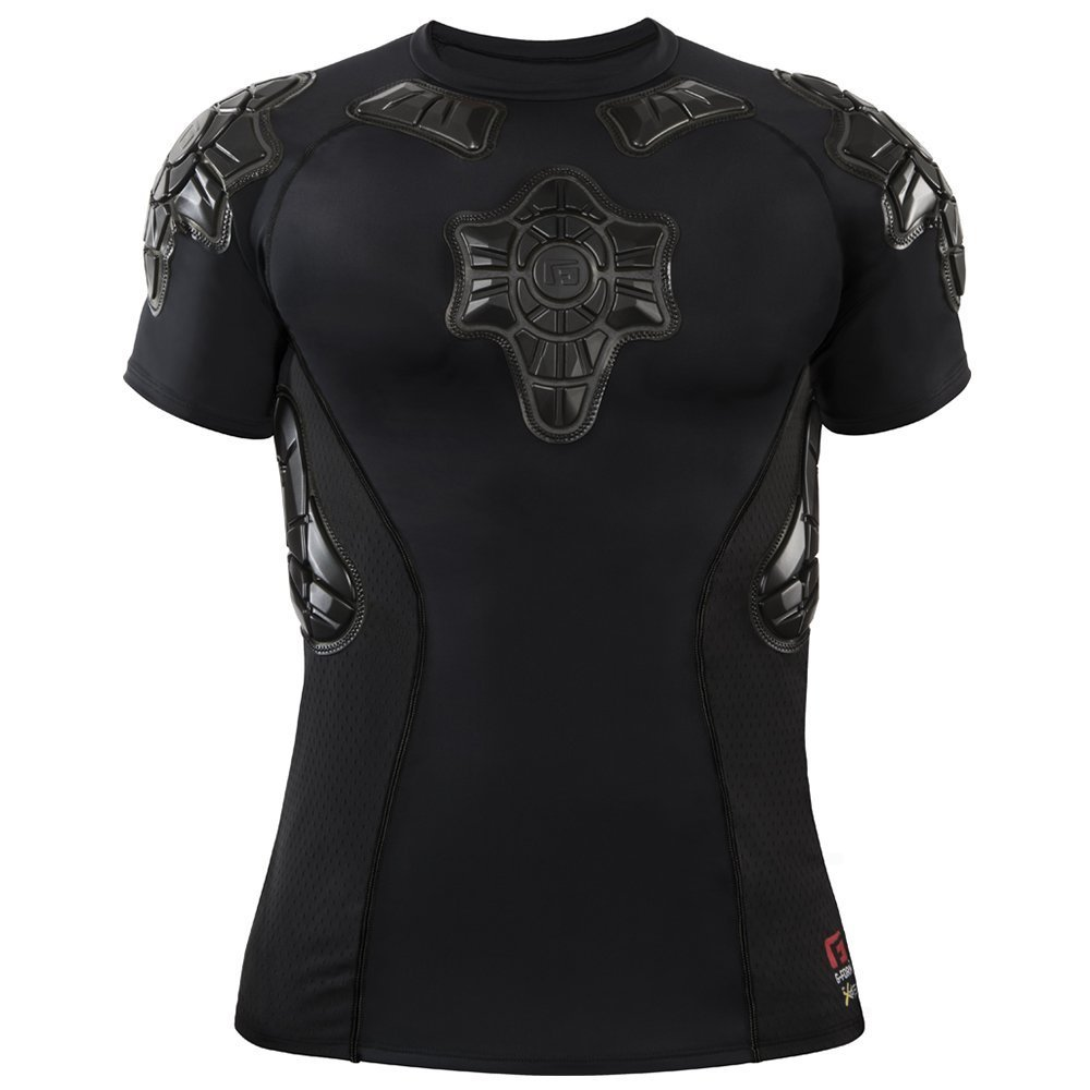 G-Form Youth Pro-X Short Sleeve Compression Shirt, Black, Large by G-Form (Image #2)