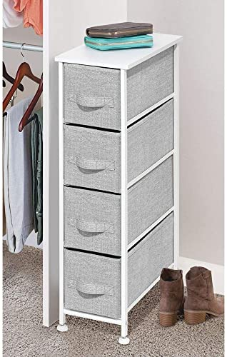 mDesign Narrow Vertical Dresser Storage Tower