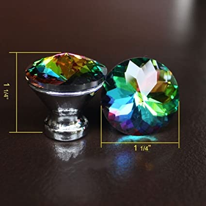 Amazon Com 10 Pieces Crystal Glass Drawer Knobs Cabinet Handle