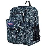 JanSport Big Student Backpack- Discontinued Colors (Aqua Dash Scribbled Ink)