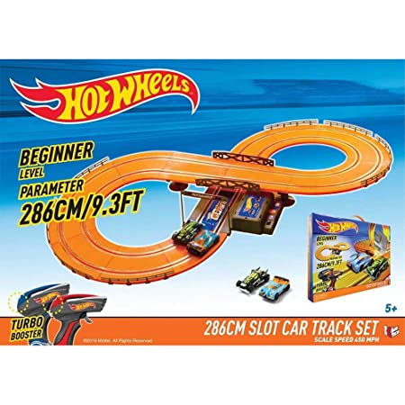 44221f21a Amazon.com  Hot Wheels Battery Operated 9.3 ft. Slot Track  Toys   Games
