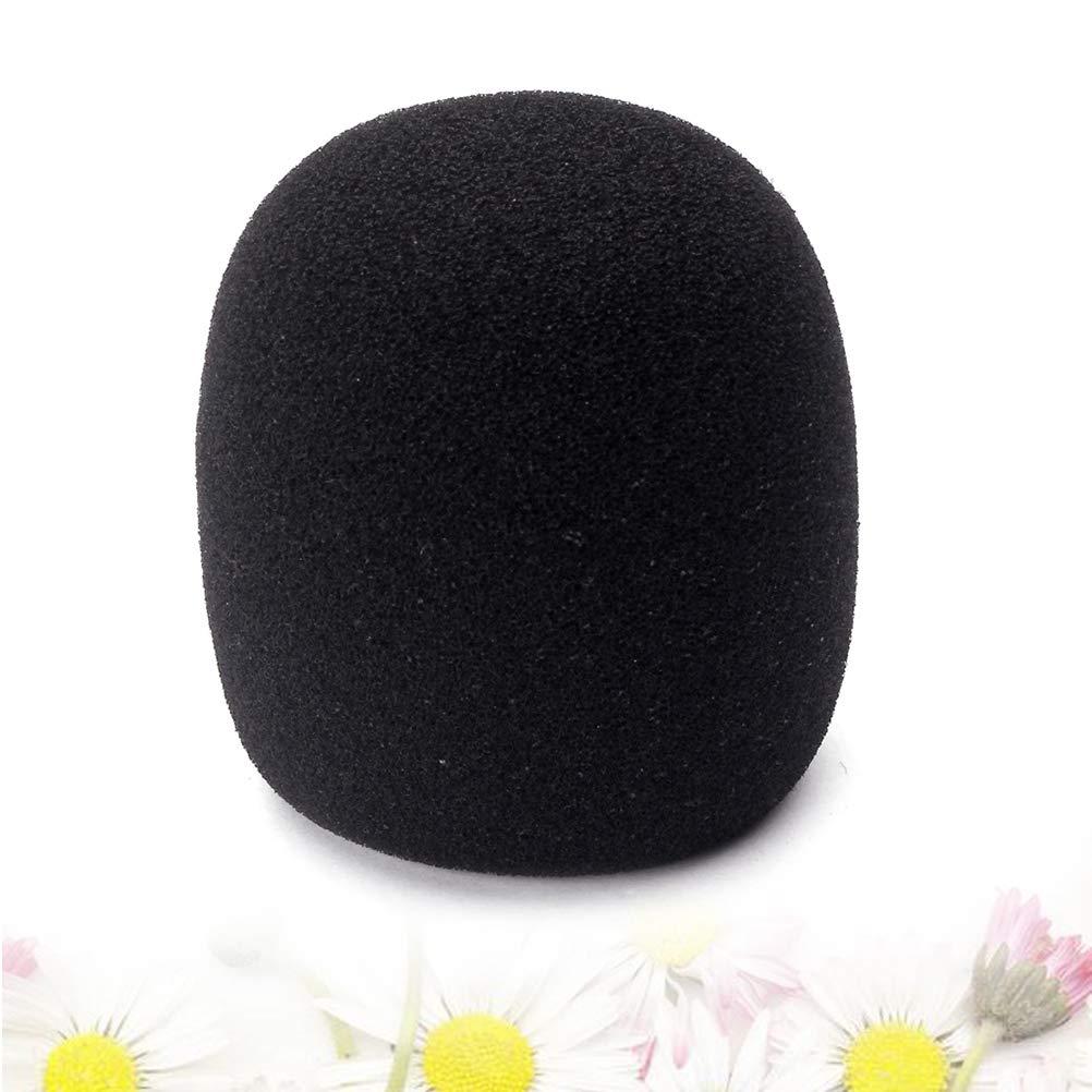 Healifty 40mm Microphone Cover Studio Microphone Windscreen Shield Sponge Microphone Cap Noir