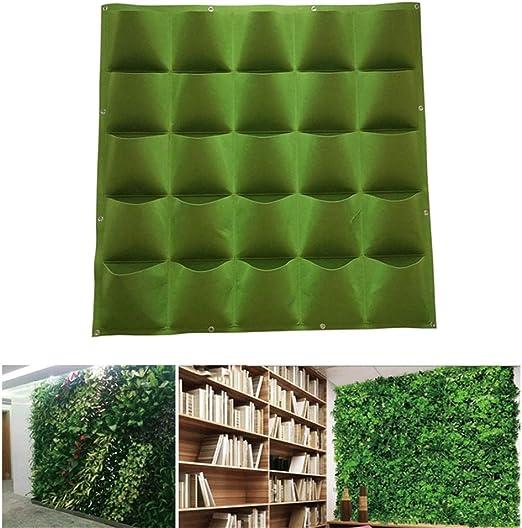 AIMCAE Bolsa de plantación de Plantas de jardín Vertical de Pared con 25 Bolsillos para Flores y Verduras de Interior/Exterior: Amazon.es: Hogar