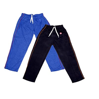 Indistar Girls Premium Cotton Full Length Lower/ Track Pant with 2 Open Pocket(Pack of 2)