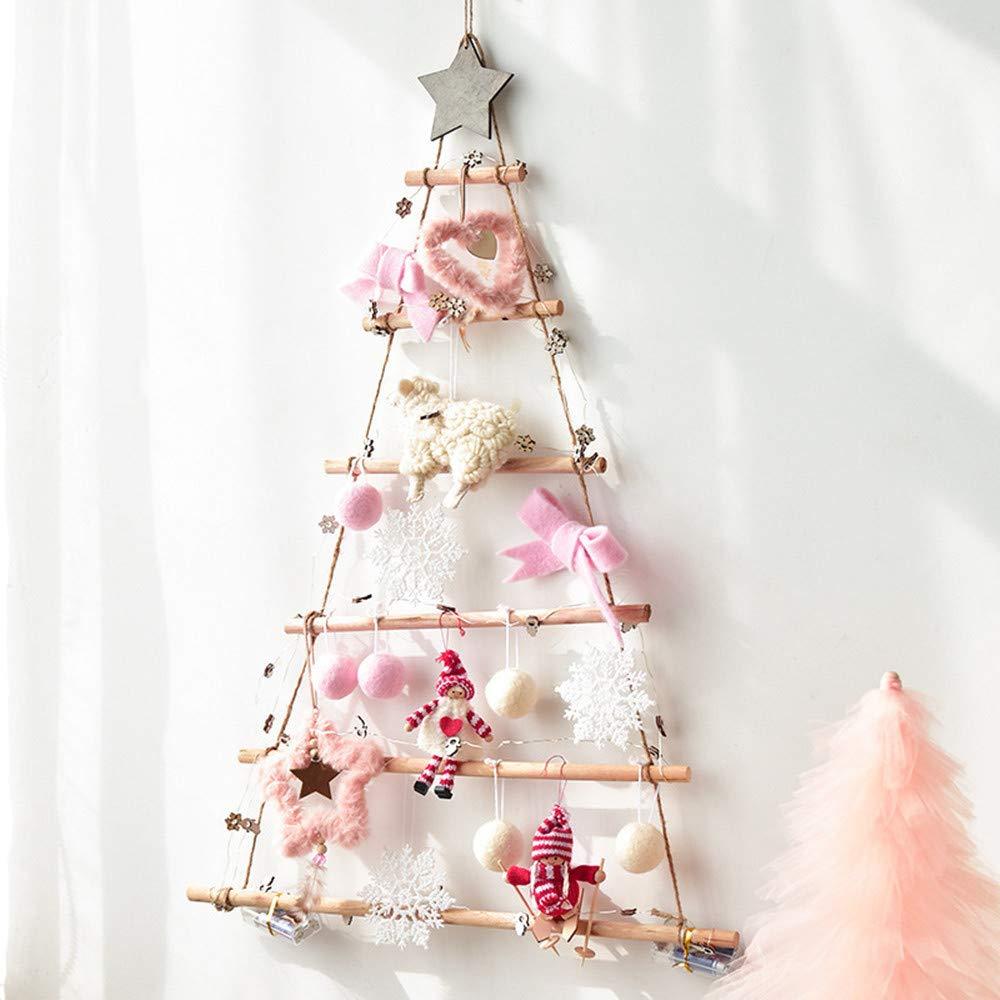 BHYDRY Árbol de Navidad Lindo Adornos de Felpa Fiesta de Navidad Árbol Que cuelga la decoración: Amazon.es: Hogar