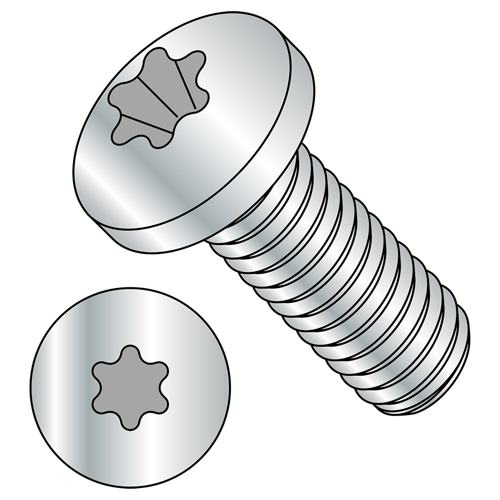 M2.5-0.45 Thread Size Meets ISO 14583 5 mm Length Zinc Plated Pack of 100 Fully Threaded Import T8 Star Drive Steel Pan Head Machine Screw