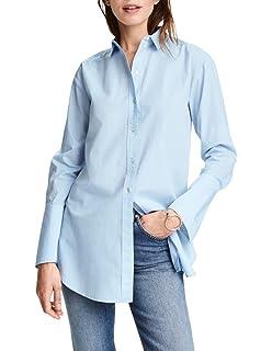 855215940cefe1 IRISIE Womens Women's Casual Wild Long-Sleeved Boyfriend Shirt Knee-Length Dress  Shirt