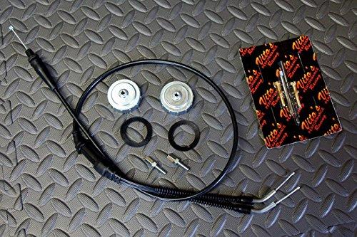 Vito's TORS REMOVAL ELIMINATOR KIT Banshee 1987-2006 cable & caps & idle screws (Idle Kit Cable)