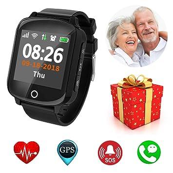 Mejor Regalos para Abuelos Padre Madre ~ SOS Smart Watch Reloj ...