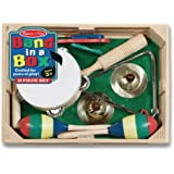 Melissa & Doug Band-in-a-Box Clap! Clang! Tap! Musical Instruments (Various Instruments, Wooden Storage Crate, 10-Piece…