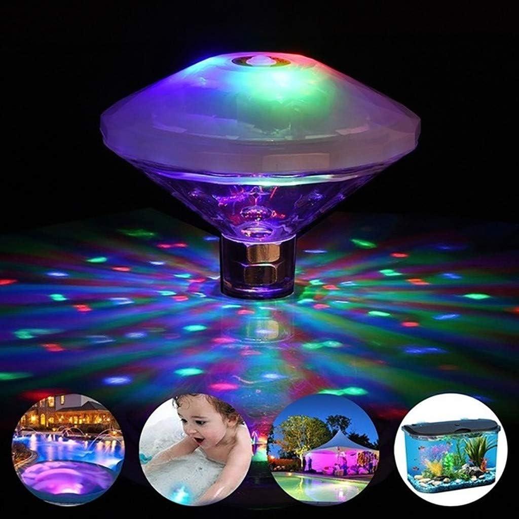 ERCZYO Floating Underwater LED Disco Light Show Swimming Pool Hot Tub Spa Lamp ERCZYO